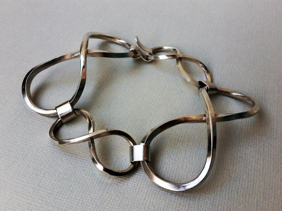 Armband i silver, eternity-länkar
