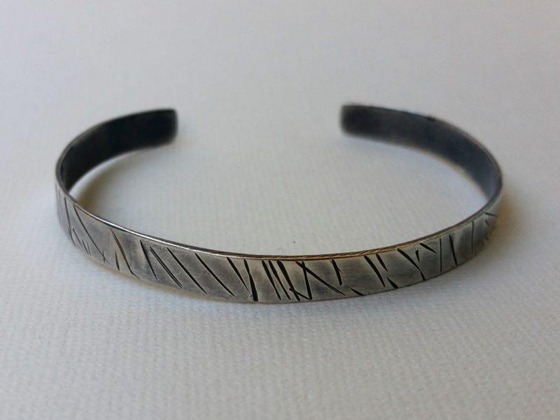 armband i oxiderat sterling silver